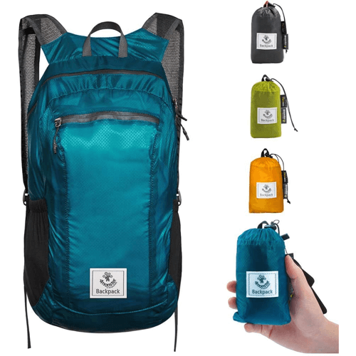 an image of a lightweight foldable daypack - one of our gift ideas for walkers