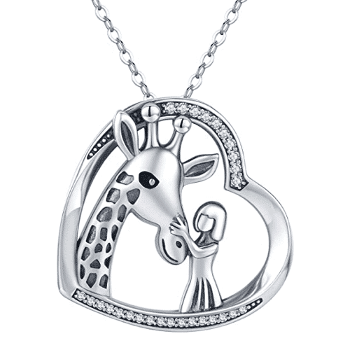 an image of a giraffe necklace - one of our giraffe gifts ideas