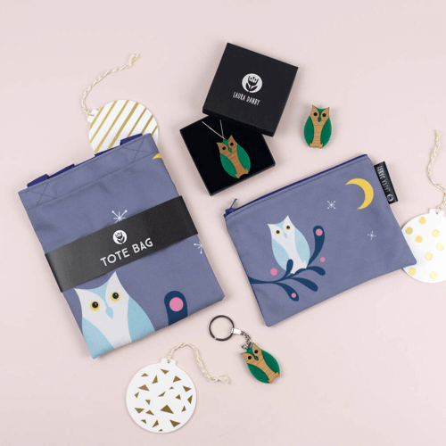 an image of an owl gift set