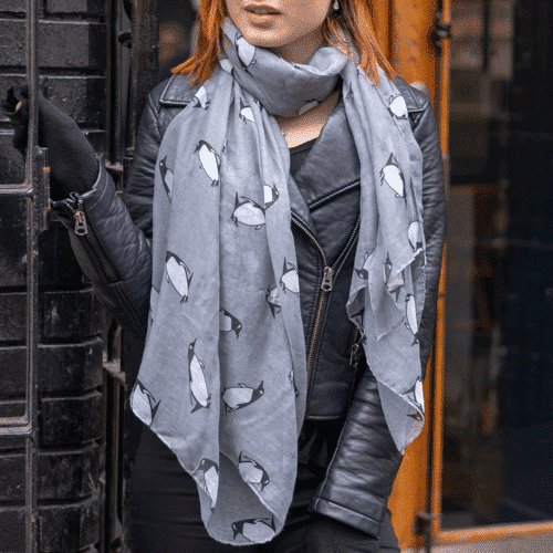 an image of a penguin scarf - one of our suggestions for penguin related gifts
