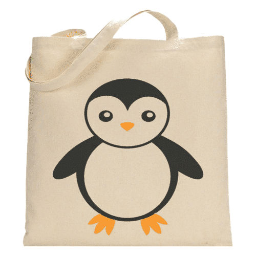 an image of an animal themed tote bag