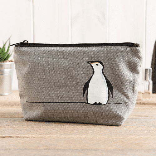 an image of a penguin zip bag - one of our ideas of penguin gifts for her