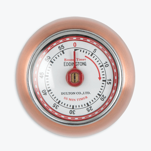 an image of a retro copper kitchen timer