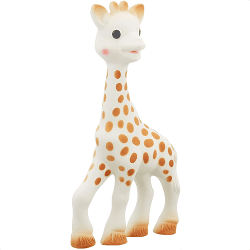 an image of a Sophie La Giraffe baby teething toy - one of our giraffe gifts for baby suggestions
