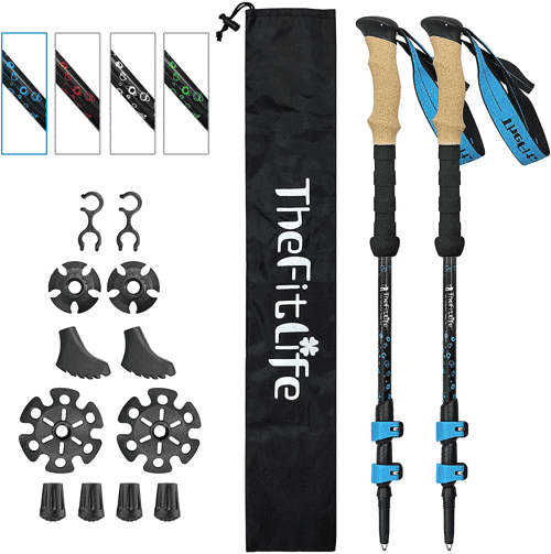 an image of carbon fibre trekking poles which would make handy presents for walkers