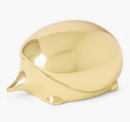 an image of a brass hedgehog paperweight - one of our ideas of hedgehog gift ideas