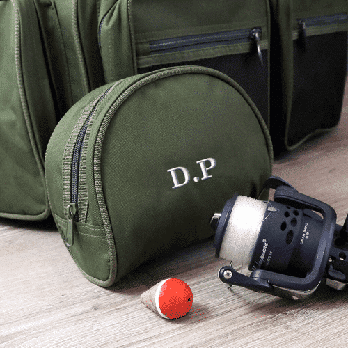 an image of a personalised fishing reel case