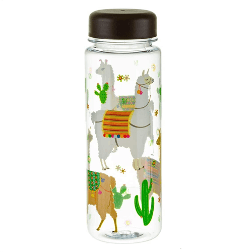 an image of a clear water bottle gift idea featuring an animal design