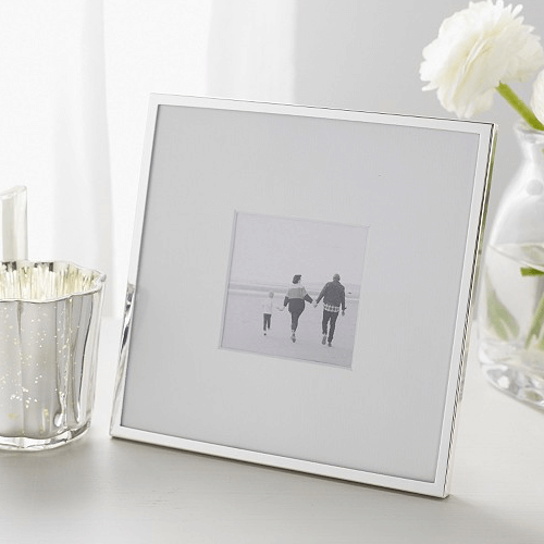 an image of a silver photo frame - one of our silver wedding anniversary gifts ideas