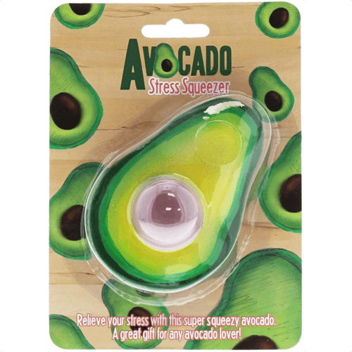 an image of an avocado themed stress reliever