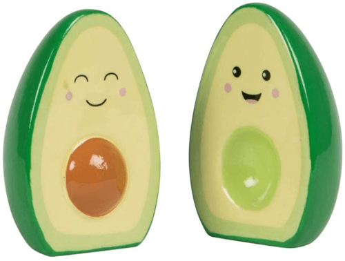 an image of an avocado salt and pepper set - one of our cute avocado gifts ideas