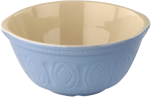 an image of a traditional stoneware mixing bowl