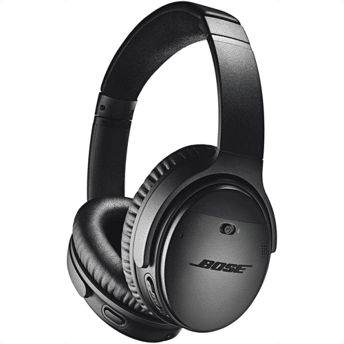 an image of bose quietcomfort 35 wireless headphones, perhaps one of the best luxury travel gifts available