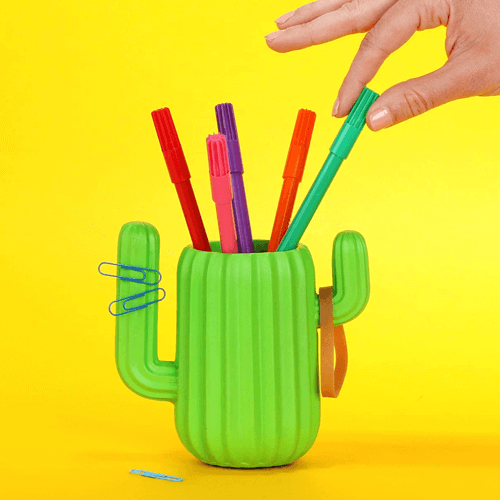an image of a desktop organiser - one of our cactus themed gifts ideas