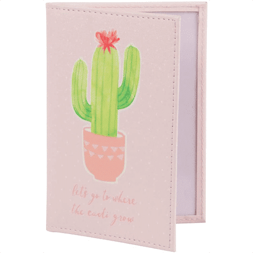 an image of a cacti-themed passport holder