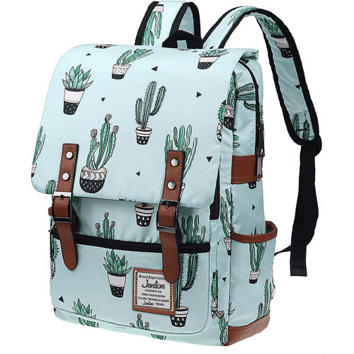 an image of a cacti print backpack