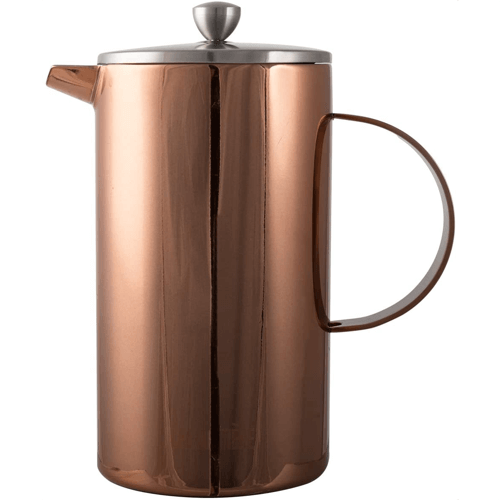 an image of a copper finish cafetiere