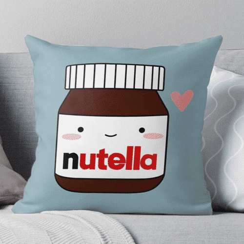 an image of a nutella themed pillow