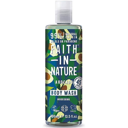 an image of faith in nature avocado body wash