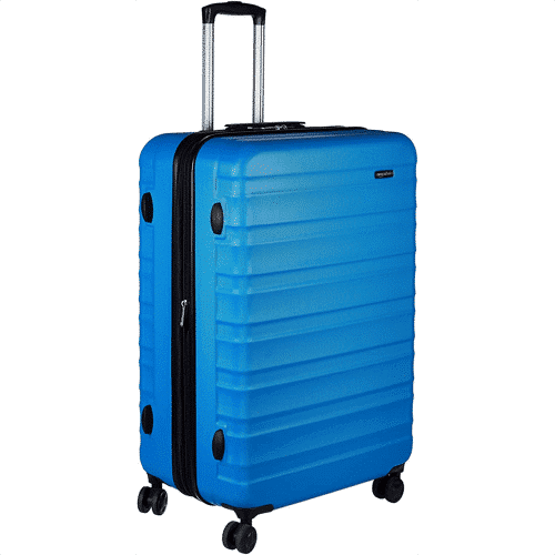 an image of the AmazonBasics hardside luggage suitcase - one of our ideas for useful travel gifts