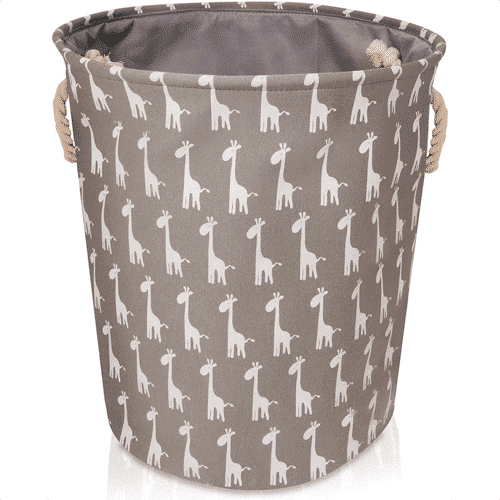 an image of a giraffe themed storage basket