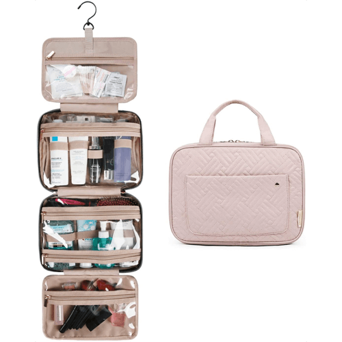 an image of a hanging toiletry bag - one of our suggestions of travelling gifts for her