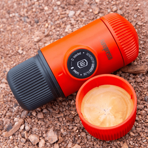 an image of a nanopresso portable espresso maker travelling gift suggestion