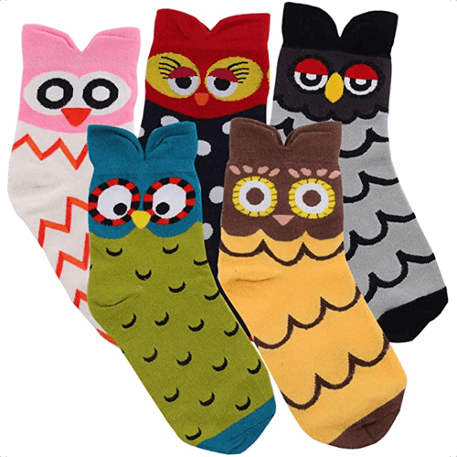 an image of novelty animal socks for women