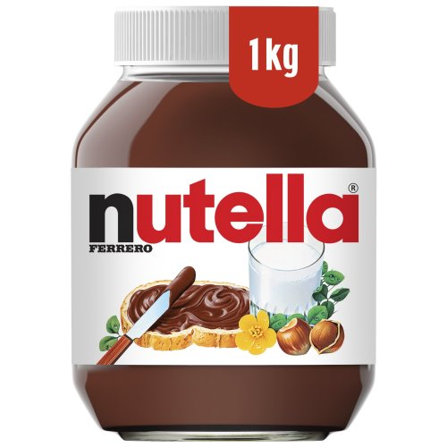 an image of a family pack 1kg jar of chocolate and hazelnut spread