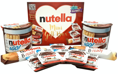 an image of a mini nutella gift set