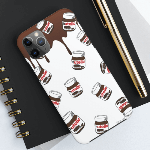 an image of chocolate spread themed iphone case