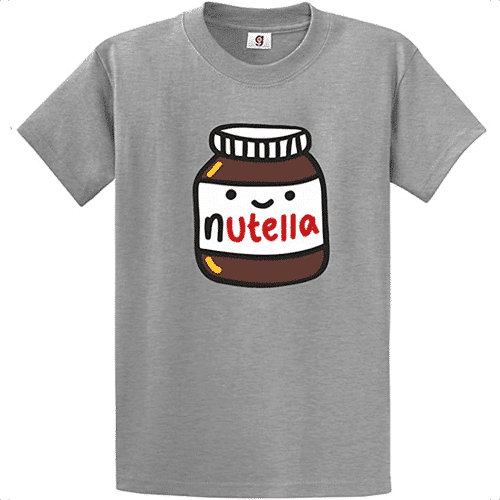 an image of a nutella t-shirt - one of our nutella themed gifts