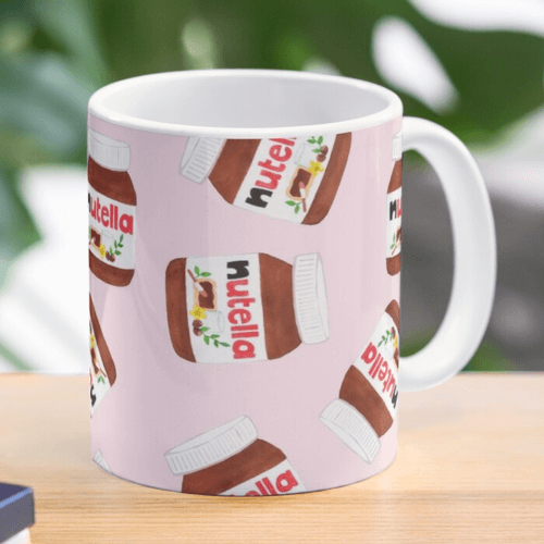 an image of nutella themed mug