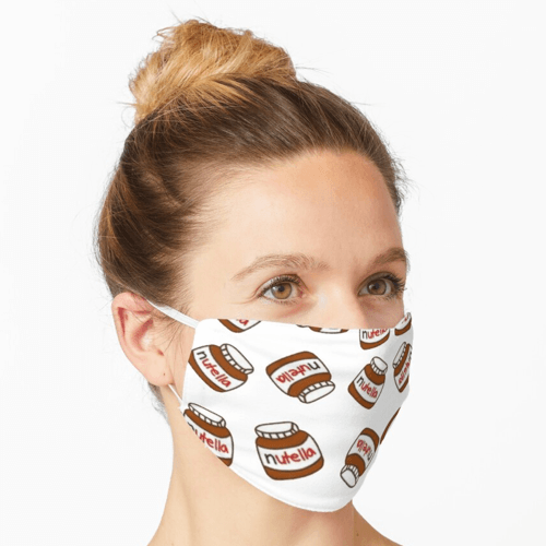 an image of a nutella pattern face mask