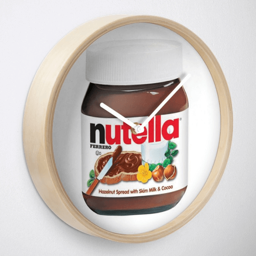 an image of a nutella themed clock
