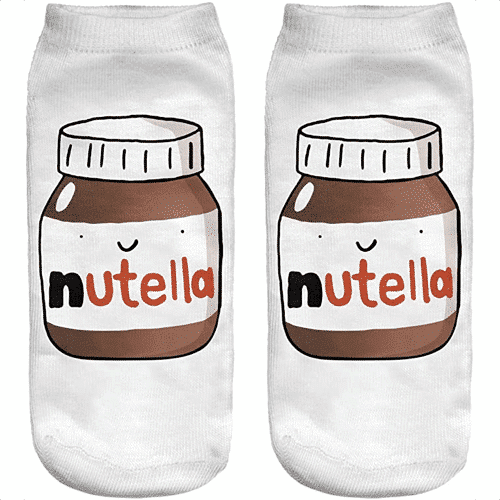 an image of chocolate spread themed childrens socks