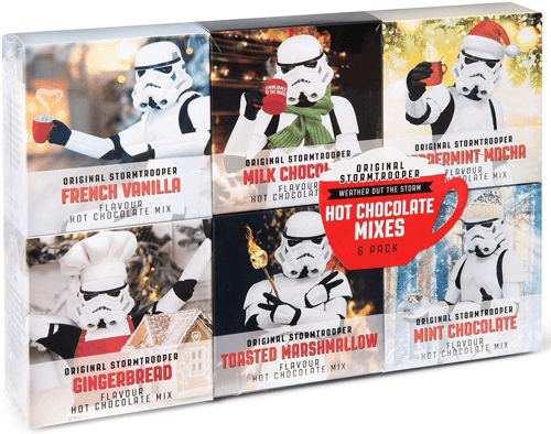 an image of a stormtrooper hot chocolate gift set