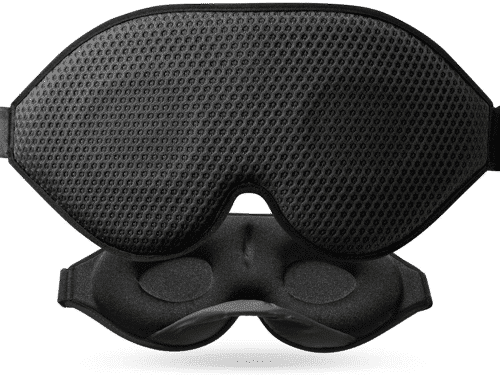 an image of a total darkness sleep mask - one of our gifts for travellers suggestions
