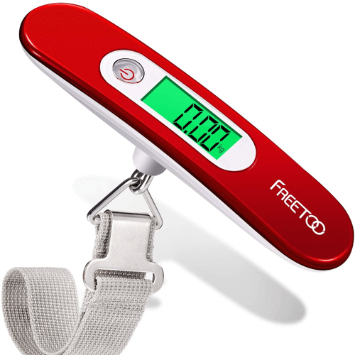 an image of a portable digital luggage scale travel essential - one of our ideas for useful travel gifts