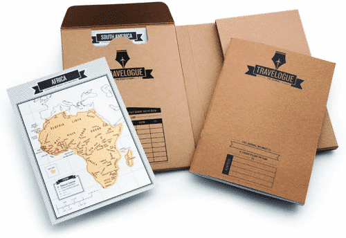 an image of a travelogue travel journal - one of our ideas of gifts for travel lovers