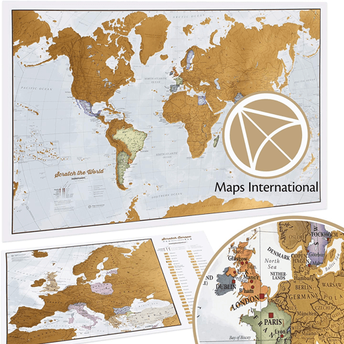 an image of a scratch the world travel map gift idea