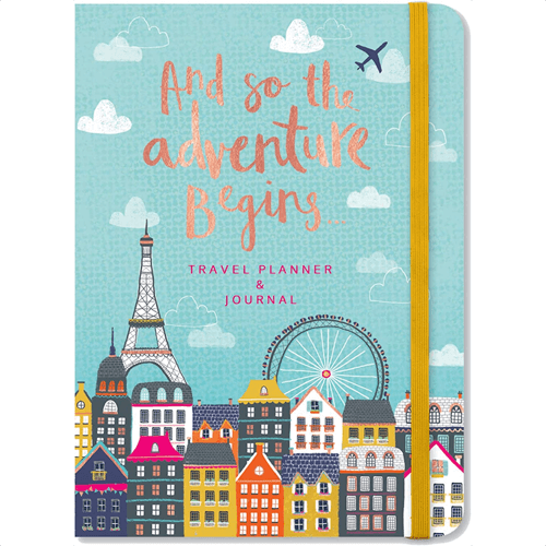 an image of a travel planner journal gift idea