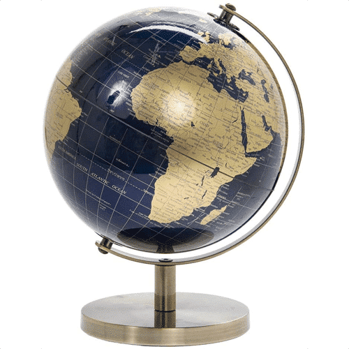 an image of a vintage rotating world globe travel gift idea