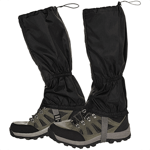 an image of lightweight leg gaiters - one of the essential gifts for avid walkers