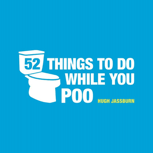 an image of a book called 52 things to do while you poo