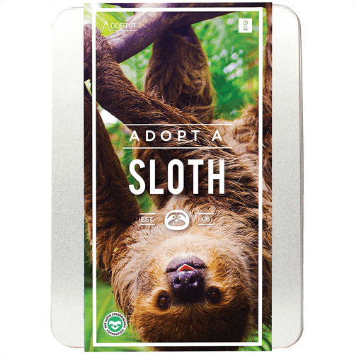 an image of an adopt a sloth gift box