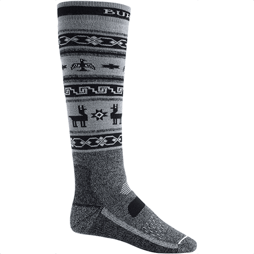 an image of burton performance midweight socks - one of our snowboard themed gifts ideas