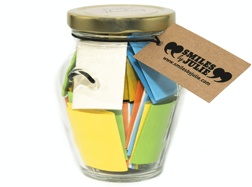 an image of a jar of smiles - one of our ideas of cute boyfriend gifts