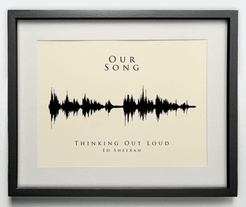 an image of a our song sound wave print