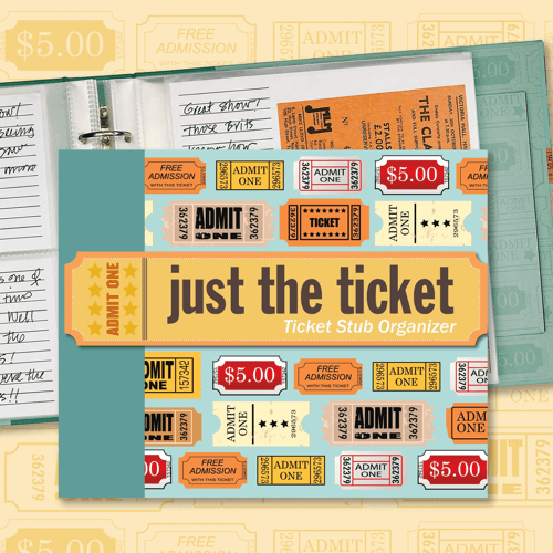 an image of a ticket stub organiser gift idea